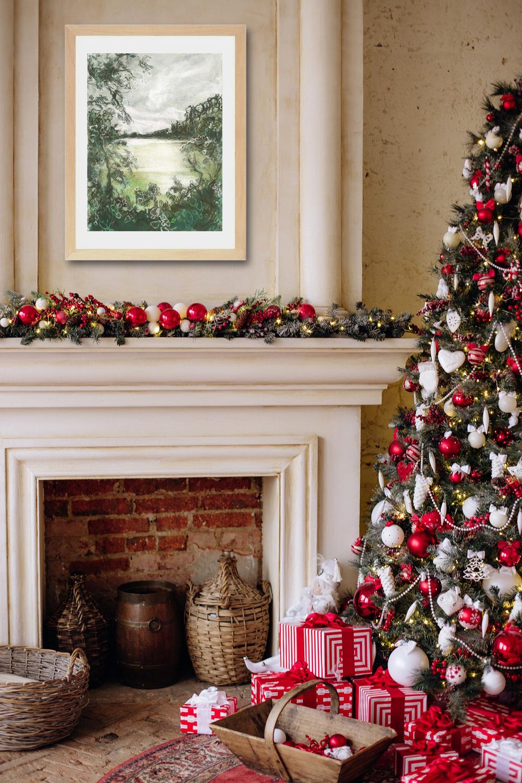 Katja Schmitt New Zealand Wai-O-Tapu Ngakoro Pastel Painting Weihnachten Christmas Interior