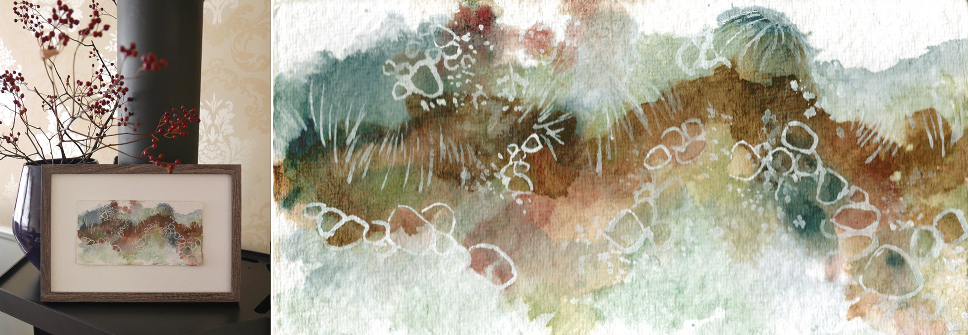 Katja Schmitt New ZealandTongariro Watercolor Aquarell Painting